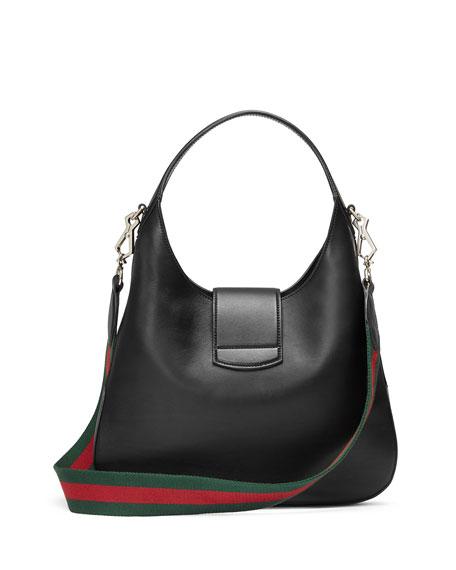 b699670081d73d Gucci Dionysus Medium Web-Stripe Hobo Bag, Black