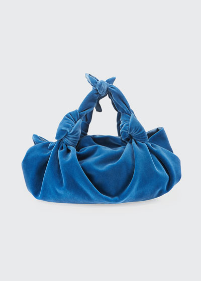 The Ascot Small Velvet Hobo Bag
