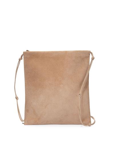 Medicine Large Suede Pouch Bag, Pale Gold