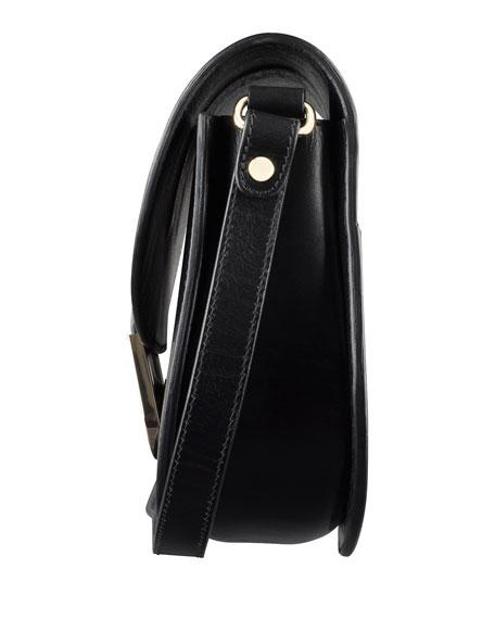 Soho Leather Crossbody Bag, Black