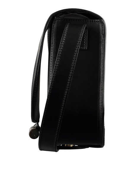 June Calfskin Crossbody Bag, Black