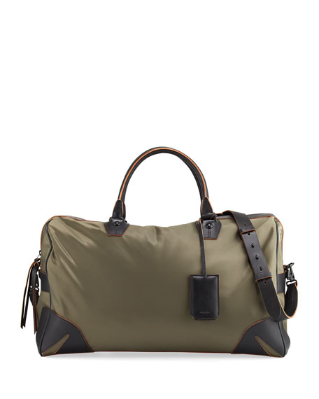 Flight Nylon Weekender Bag, Olive
