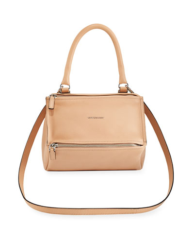 Pandora Sugar Small Leather Shoulder Bag, Nude Pink
