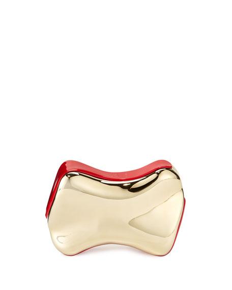 Christian Louboutin Shoespeaks Brass Clutch Bag