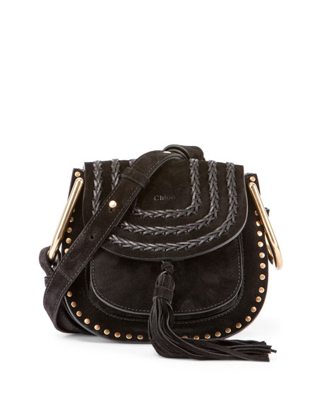 Chloe Hudson Mini Suede Shoulder Bag, Black
