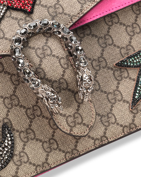 c54c61b1f Gucci Dionysus Embroidered Shoulder Bag, Multi/Pink
