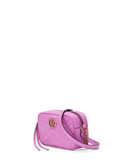 089d728333c652 Gucci GG Marmont Mini Matelassé Camera Bag, Bright Pink