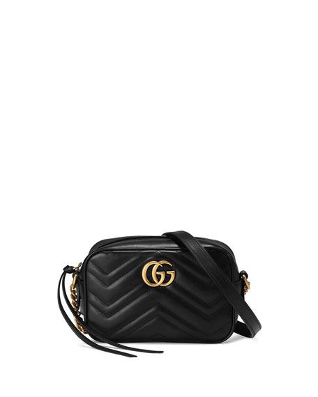 Gucci GG Marmont Mini Matelassé Camera Bag, Black