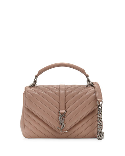 Monogram Medium College Shoulder Bag, Blush