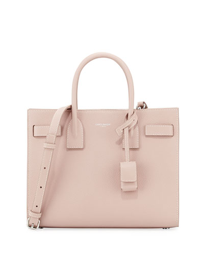 Sac de Jour Baby Grained Leather Satchel Bag, Blush