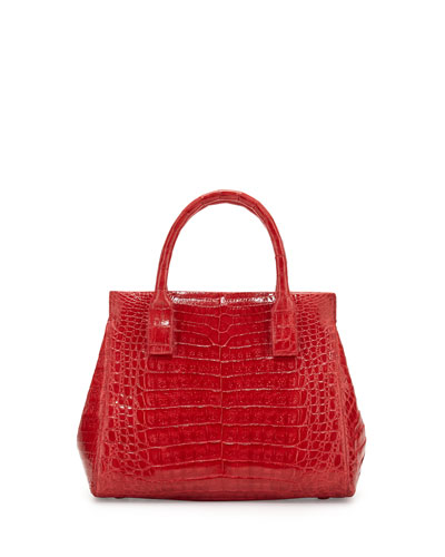 Daisy Small Crocodile Satchel Bag