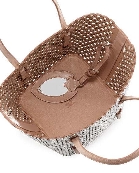 Small Bucket Bag, Classic Nude