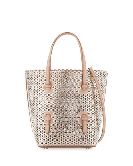 Small Bucket Bag, Classic Nude