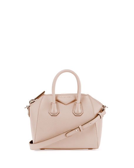 Antigona Mini Sugar Satchel Bag, Nude Pink