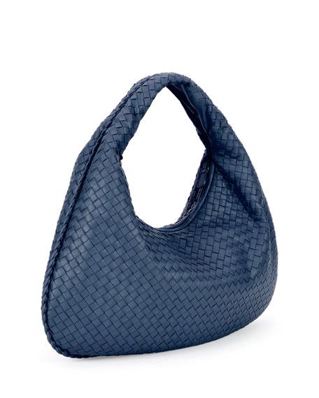 Veneta Intrecciato Large Hobo Bag, Cobalt Blue