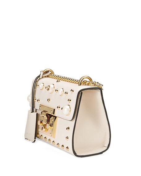 Padlock Small Studded Leather Shoulder Bag