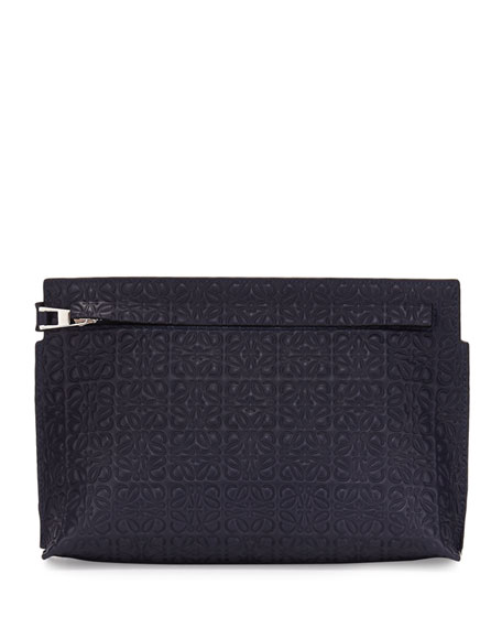 Loewe Medium Embossed Leather T Pouch Bag