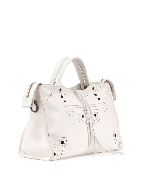 Blackout City AJ Shoulder Bag, White