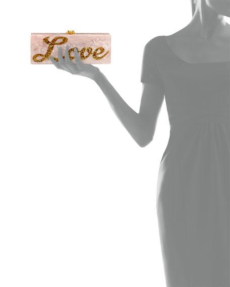 Peace & Love Flavia Clutch Bag, Rose Quartz