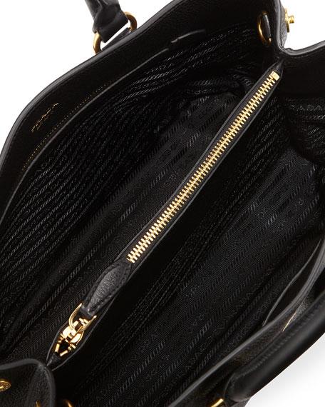 04763de3c60b Prada Vitello Daino Tote Bag, Black (Nero)