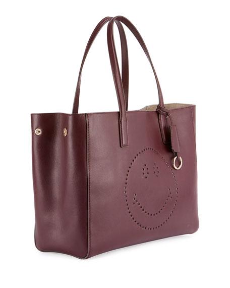 Ebury Shopper Smiley Tote Bag, Wine