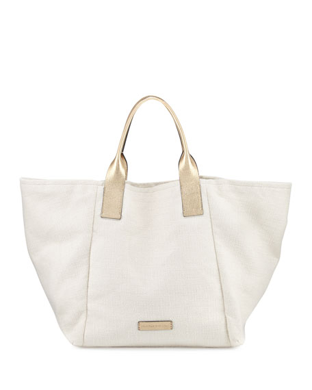 Canvas Transport Oversized Tote Bag With Leather Handle – worthtryit.com 8e4b8424b80b9
