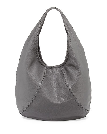 bf71e9e5605 Bottega Veneta Cervo Large Hobo Bag, New Light Gray