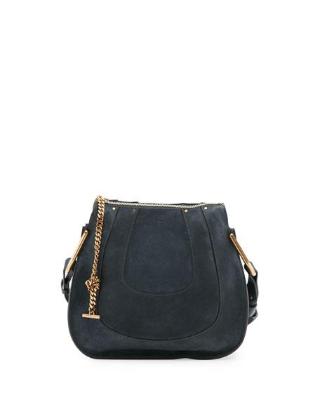 f2e8b459 Hayley Small Suede Hobo Bag Blue