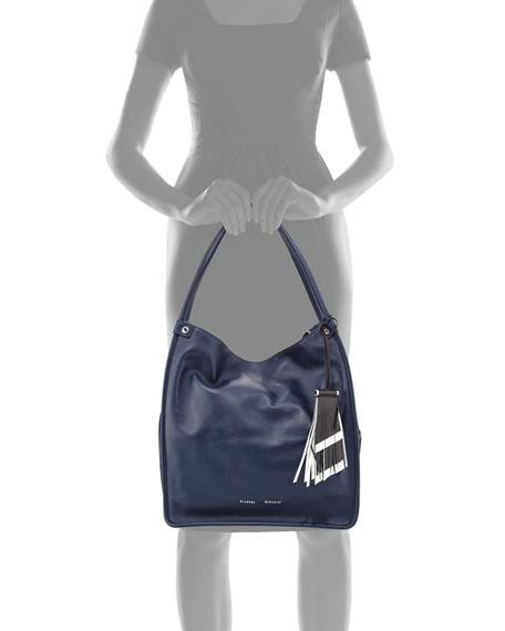 Medium Tassel Tote Bag, Indigo
