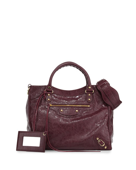Balenciaga Classic Velo Lambskin Tote Bag, Violet