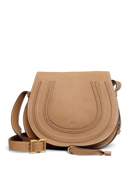 Marcie Medium Leather Crossbody Bag, Nut