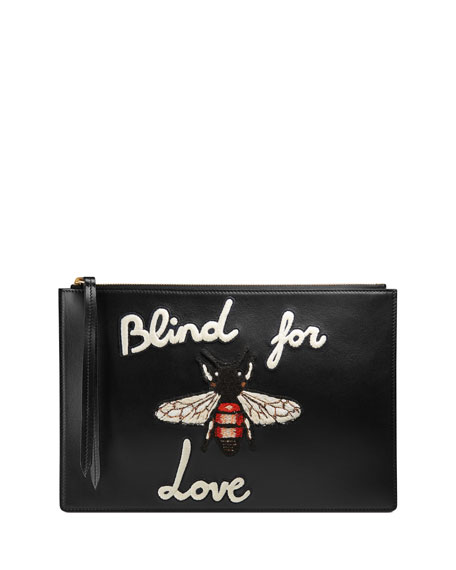 7d2c980543ecc Gucci Blind for Love Leather Pouch