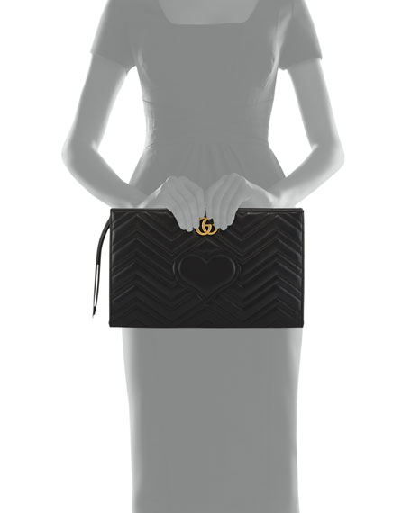 4f7dc870c4d509 Gucci GG Marmont Matelassé Clutch Bag, Black