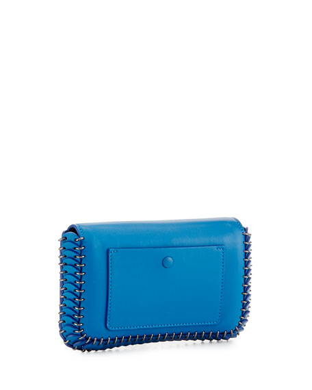 Mini Leather Shoulder Bag, Blue