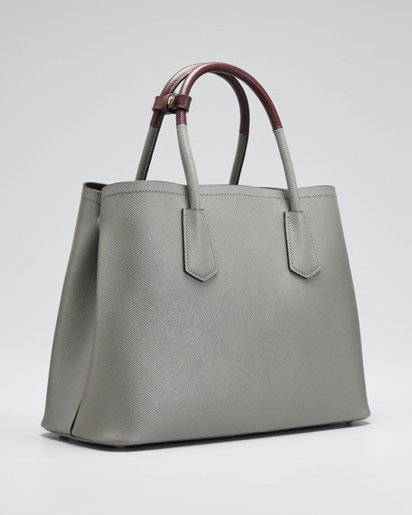 Saffiano Cuir Double Small Tote Bag