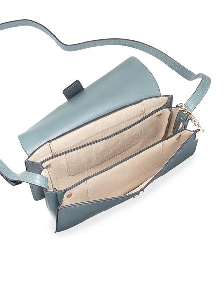 f9762c11 Faye Small Suede & Leather Shoulder Bag Light Blue