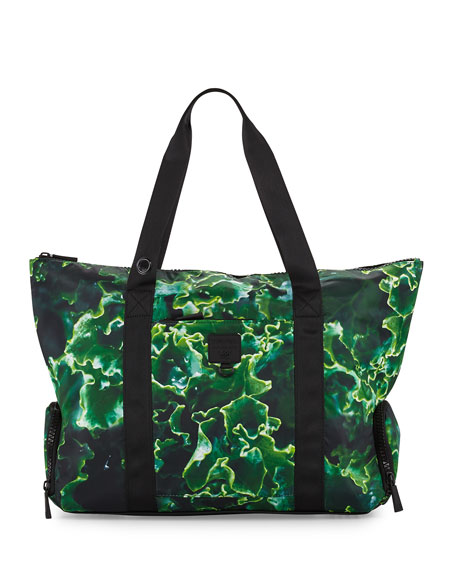 Terez Some Kale Structured Gym Tote Bag, Green