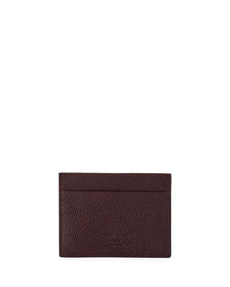 Caviar Leather Card Case, Wine