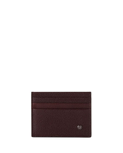 Caviar Leather Card Case, Wine