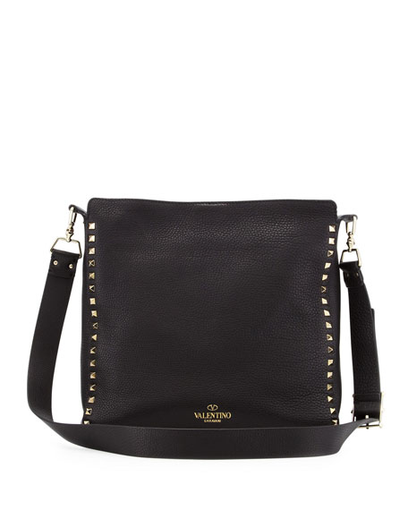 Rockstud Small Flip-Lock Hobo Bag
