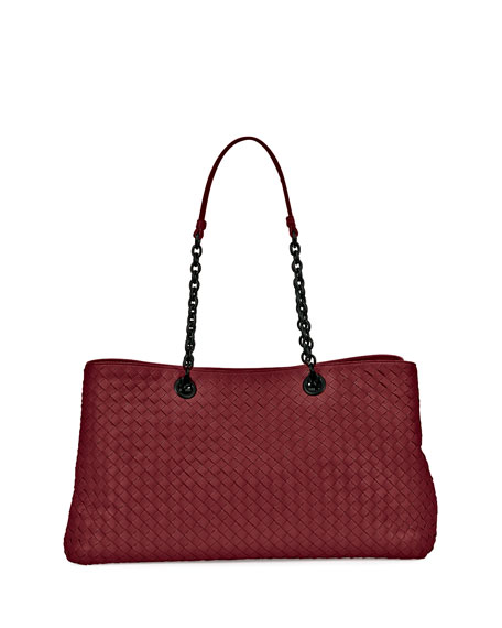 Bottega Veneta Intrecciato Double Chain Tote Bag