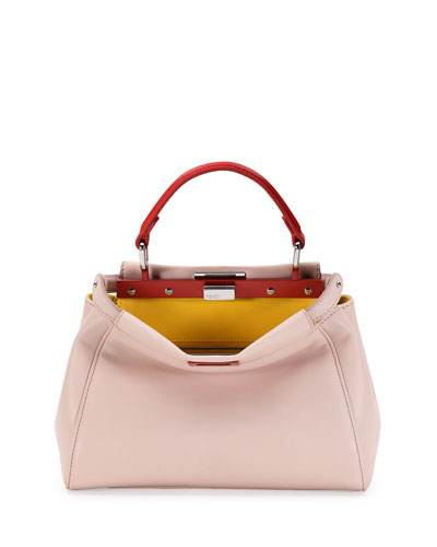 Peekaboo Mini Tricolor Satchel Bag