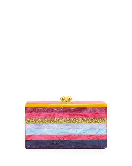 beb7c526a9 Edie Parker Jean Striped Acrylic Box Clutch Bag