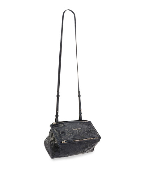 Pandora Mini Leather Crossbody Bag, Navy
