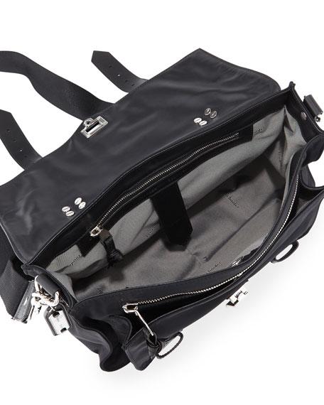 PS1 Medium Nylon Crossbody Bag, Black