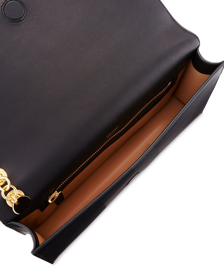 Calf Leather Wristlet Clutch Bag