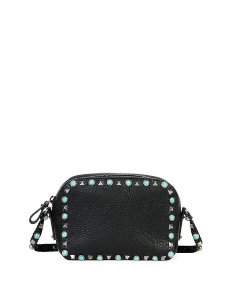 Valentino Garavani Rockstud Turquoise-Studded Crossbody Bag 715e73b6e21b1