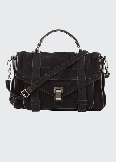 PS1 Medium Suede Satchel Bag