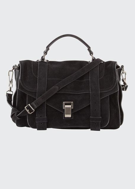 PS1 Medium Suede Satchel Bag