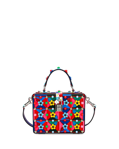 Dolce & Gabbana Dolce Box Maiolica-Print Top-Handle Satchel